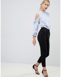 Y.A.S - Cropped Trouser With Front Split - Lyst