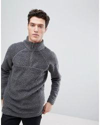 Native Youth - Half Zip Borg Jumper - Lyst