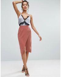 ASOS | Minimal Wrap Skirt | Lyst