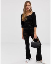 ASOS - Co-ord Crochet Knitted Flares - Lyst