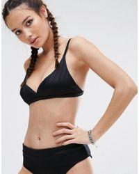 RVCA - Rib Bikini Top - Lyst