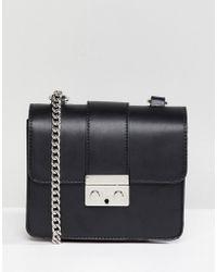 Bershka - Chain Strap Mini Satchel Bag In Black - Lyst