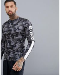 Björn Borg - Performance Long Sleeve Top In Camo - Lyst