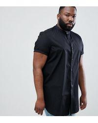 ASOS - Design Plus Regular Fit Shirt In Super Longline - Lyst