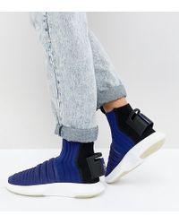 lowest price fc354 0742d adidas Originals - Crazy 1 Adv Sock Primeknit Trainers In Blue - Lyst