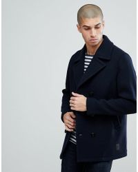 Jack & Jones - Vintage Wool Peacoat - Lyst