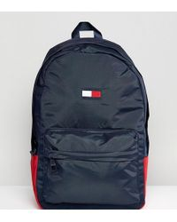 Tommy Hilfiger - Retro Logo Backpack In Navy Exclusive At Asos - Lyst