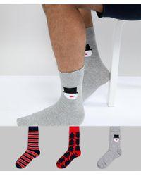 Jack & Jones - 3 Pack Christmas Socks - Lyst