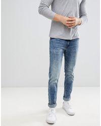 Dr. Denim - Clark Slim Jeans In Dim Blue - Lyst