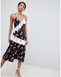 54fcaa3b ASOS Red Carpet Scattered Sequin Midi Fishtail Dress in Metallic - Lyst
