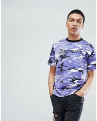 Wasted Paris - London T-shirt In Purple Camo - Lyst