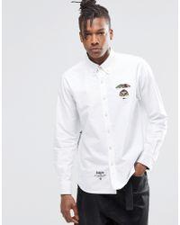 Aape - Pe By A Bathing Ape Basic Long Sleeve Shirt In Slim Fit - Lyst