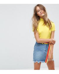 Daisy Street | Ribbed Crop Top With High Neck | Lyst