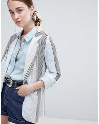 New Look - Stripe Blazer - Lyst