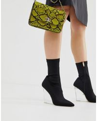Public Desire - Glance Clear Wedge Boots - Lyst