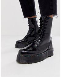 9333014d968 Lyst - Dr. Martens Jadon 8-eye Platform Boots In Green in Green for Men