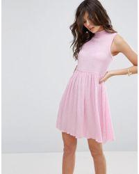 ASOS - Sleeveless Smock Dress In Textured Fabric - Lyst