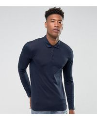 SELECTED - Slim Long Sleeve Polo In Mercerised Cotton - Lyst