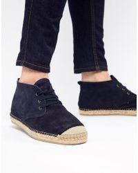 SELECTED - Spanish Espadrille Chukka Boots - Lyst