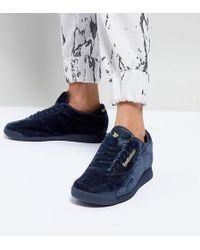 ASOS - White X Reebok Princess Sneakers In Velvet - Lyst