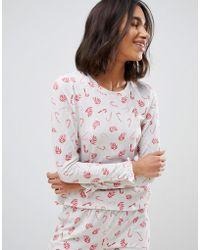 Vero Moda - Haut de pyjama de Nol imprim canne sucre - Lyst