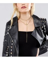 Regal Rose - Throne Gold Lariat Choker Chain Necklace - Lyst