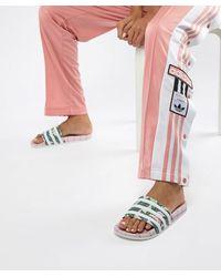 adidas Originals - Adidas Adilette W Pink/ Ftw White/ Wonder Pink - Lyst