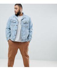 Lee Jeans - Rider Plus Jacket In Stonewash - Lyst