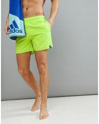 adidas - Swim Shorts In Yellow Cv5131 - Lyst