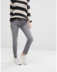 Lee Jeans - Scarlett Cropped Skinny Jeans With Released Hem - Lyst