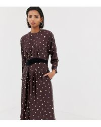 Mango - Metallic Polka Dot Dress - Lyst