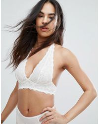 fb91560e11faf Free People Halterneck Lace Bralette in Black - Lyst