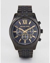 Michael Kors - Mk8603 Lexington Bracelet Watch In Black 44mm - Lyst