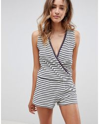 Tommy Hilfiger - Towelling Playsuit - Lyst