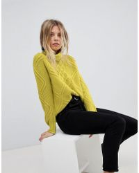 Oasis - Cable Knit Roll Neck Jumper - Lyst