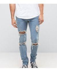 Liquor N Poker - Skinny Jeans Ripped Ankle Zip - Lyst