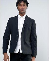 Minimum - Waffle Wool Blend Slim Fit Suit Jacket - Lyst
