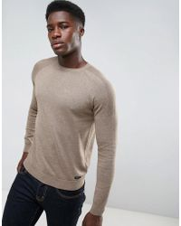 Threadbare - Textured Shoulder Knit Sweater - Lyst