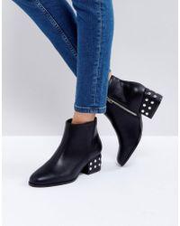 Londres Chaussure Avant Zip Rebelle Flatform - Boîte Noire Pu ATlmCAGA