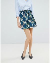 Oasis - Fitzwilliam Paperbag A-line Skirt - Lyst
