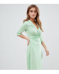 ASOS - Asos Design Petite Midi Shirt Dress With Safety Pin - Lyst
