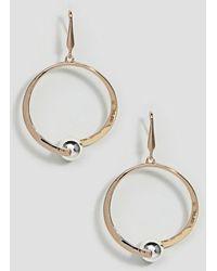 Steve Madden - Gold Dangling Earring - Lyst