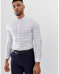b2c6cf073 ASOS Design Skinny Shirt With Hawaiian Floral Print in Black for Men ...