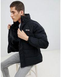 Schott Nyc - Nebraska Puffer Jacket Stowaway Hood Regular Fit In Black - Lyst
