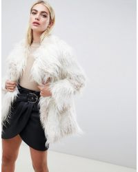ASOS - Borg Patched Coat - Lyst