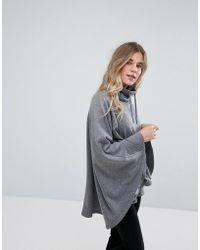 UGG - Pichot Double Knit Fleece Poncho - Lyst