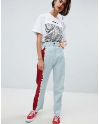 House of Holland - Vivid Contrast Mom Jeans - Lyst