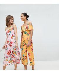 Whistles - Exclusive Floral Wide Leg Jumpsuit - Lyst