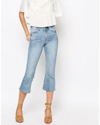Warehouse - Cropped Kick Flare - Lyst