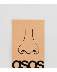 ASOS DESIGN - Sterling Silver Gold Plated Nose Ring - Lyst